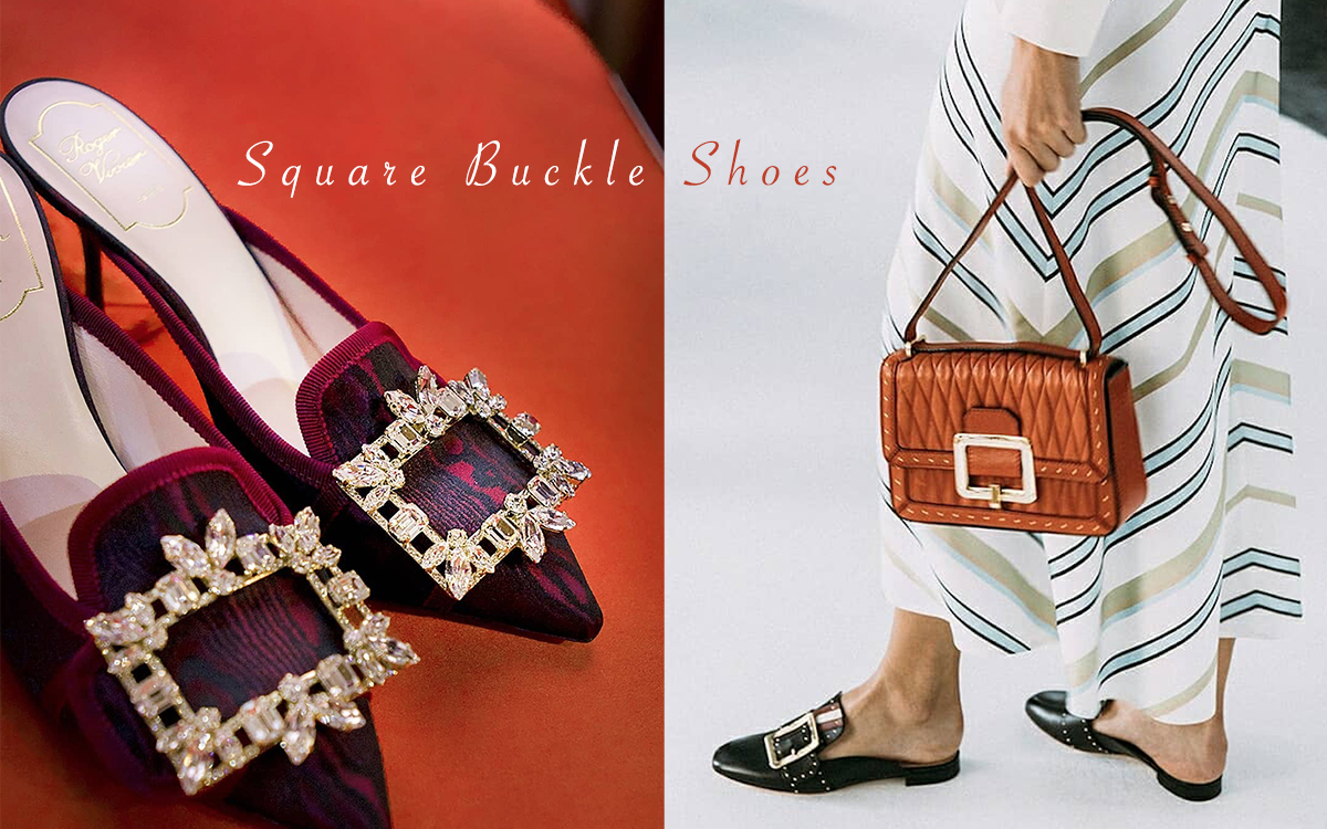"The Basic Style of ""Square Buckle Shoes"" ! Determine The Fashion Trend!"