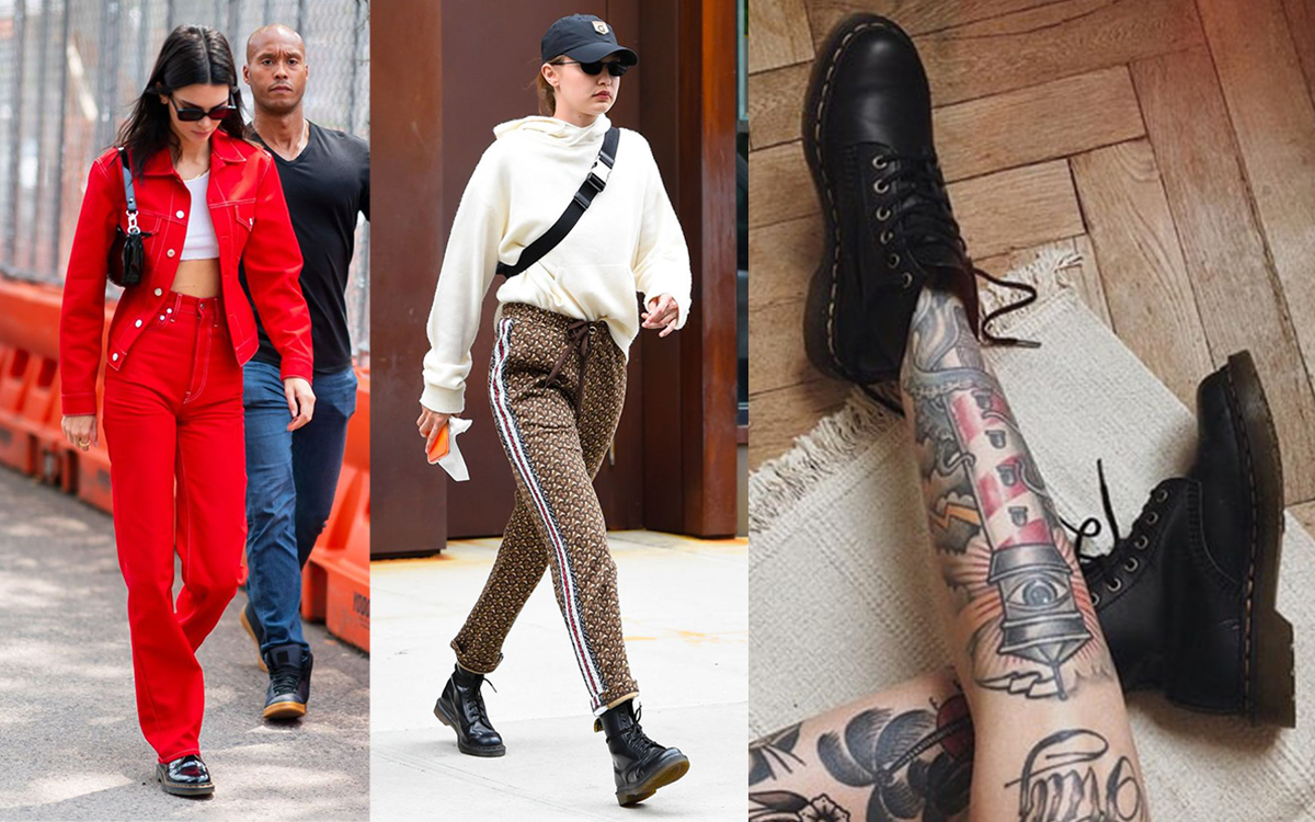 Supermodel Gigi Hadid and Kendall Jenner love Dr. Martens