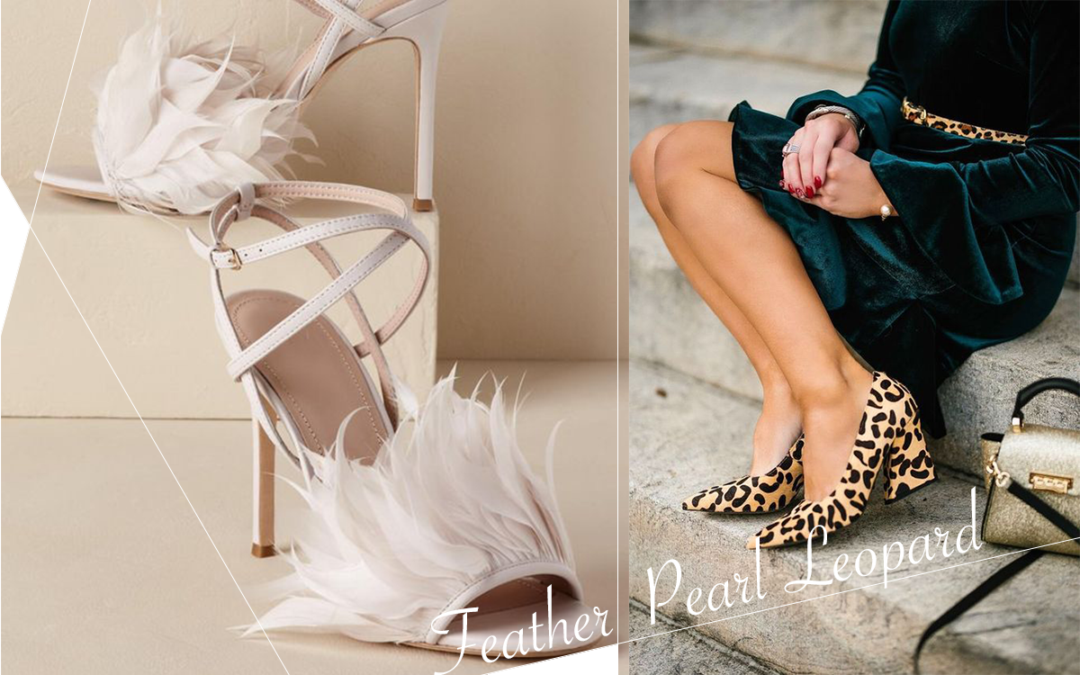 2019 Women's shoes trend! Feathers, pearls, and leopard prints are indispensable!