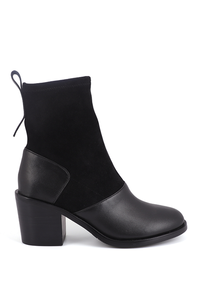 SUEDE MIX LEATHER BOOTS